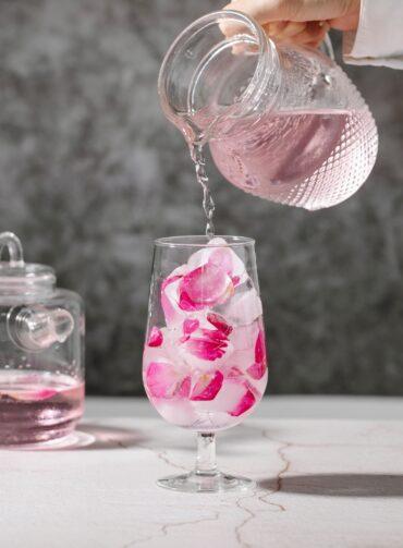 Rose Syrup Ice Tea